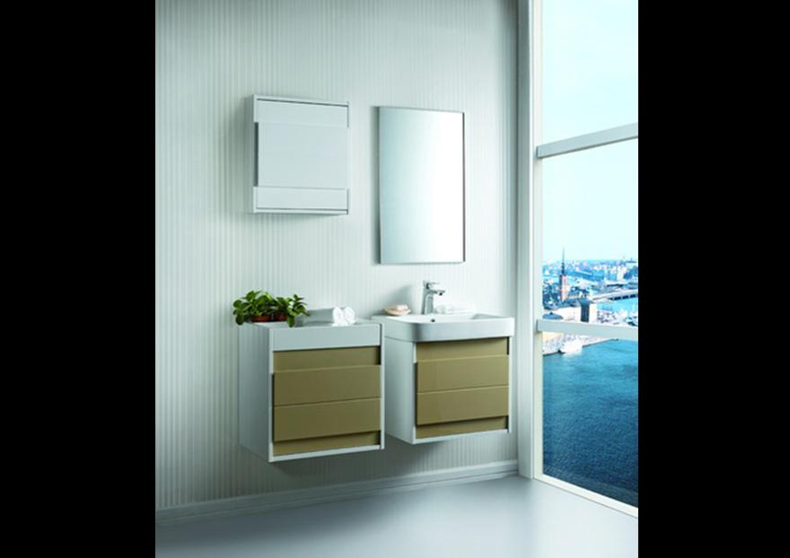 Gabinete Para Baño Sicily Ebaño:Mueble de Baño de Madera Contrachapada con PVC