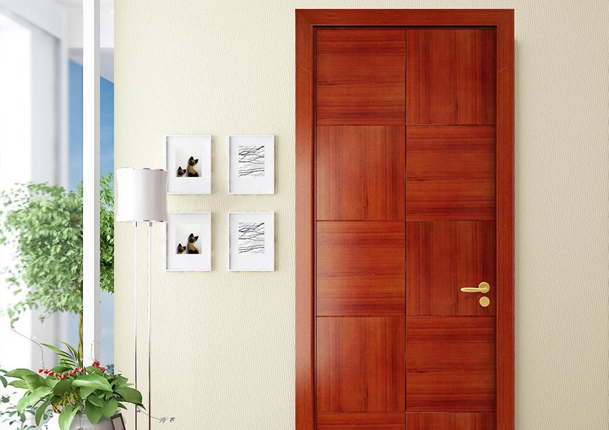 Puerta de madera con acabado en melamina casabella - Puertas de calle de madera ...
