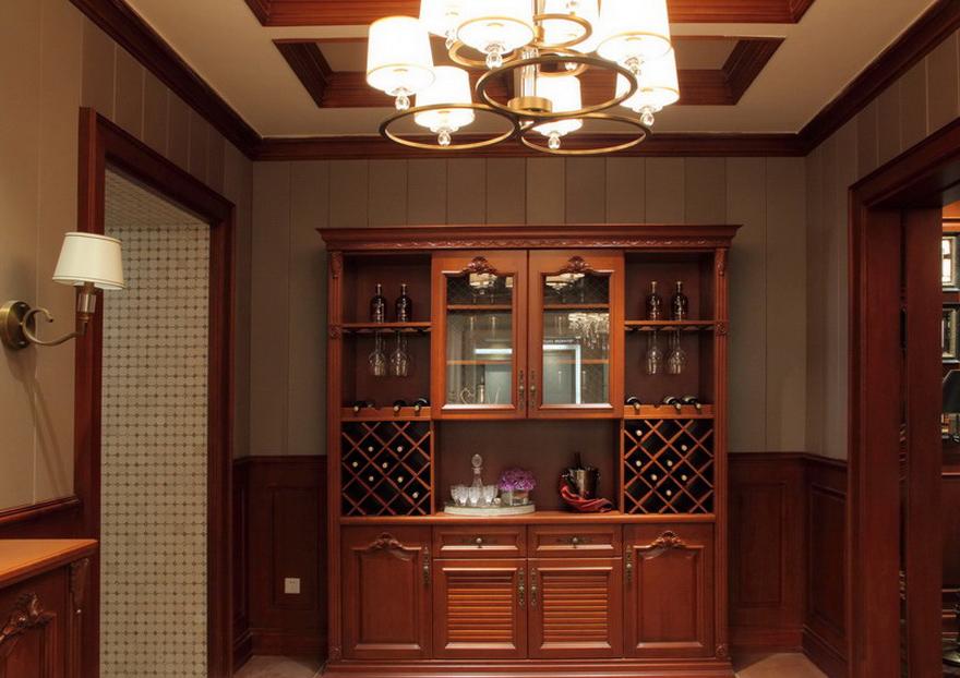 Mueble bar en madera de cerezo casabella for Mueble bar madera