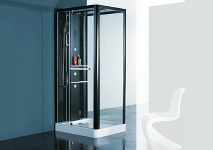 Ducha telefono cuadrada en vidrio casabella for Telefono ducha