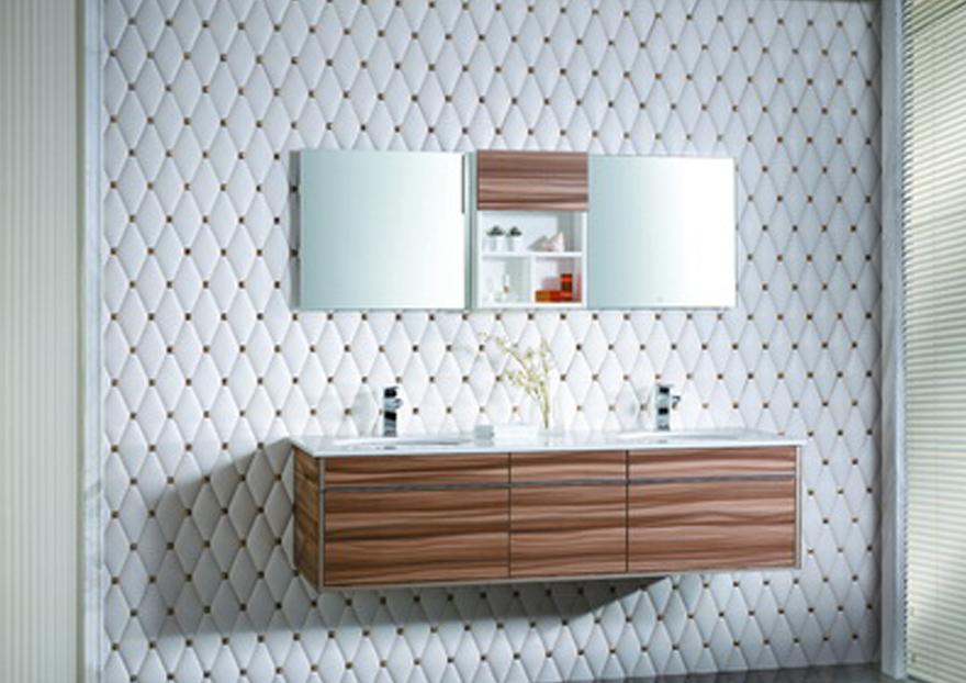 Gabinete Para Baño Sicily Ebaño:baño moderno flotante con enchape de madera baños